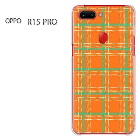ゆうパケ送料無料 OPPO R15 PRO オッポ r15proR15 Pro simフリー ケース カバークリア 透明 ハードケース ハードカバーアクセサリー スマホケース スマートフォン用カバー[チェック(オレンジ)/r15pro-pc-new0872]