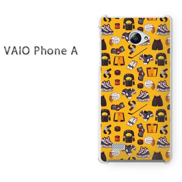 ゆうパケ送料無料 VAIO Phone Aバイオ フォン Vaio phone a simフリー ケース カバークリア 透明 ハードケース ハードカバーアクセサリー スマホケース スマートフォン用カバー[キャラ・ホッケー(黄)/vaiophonea-pc-new1082]