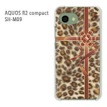 ゆうパケ送料無料 AQUOS R2 compactソフトバンク アクオス R2 コンパクト aquosr2 compactクリア 透明 スマホケース カバー ハード ポリカーボネート [豹柄・リボン(ブラウン)/aquosr2compact-pc-ne423]