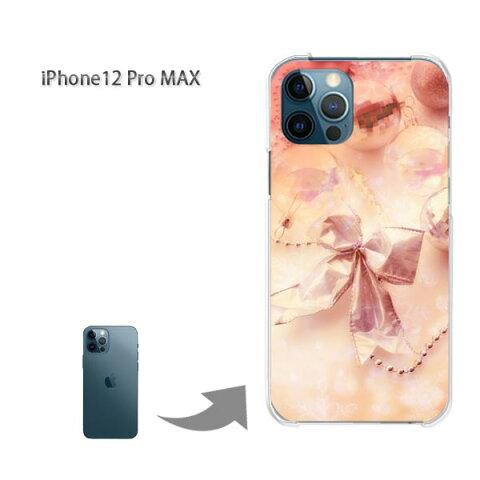 ゆうパケ送料無料 iPhone12ProMAX ケース新型iPhone アイフォン iPhone12ProMAX PCケース おしゃれ 人気 カワイイアクセサリー スマホケース カバー ハード ポリカーボネート[リボン・シンプル・キラキラ(ピンク)/i12promax-pc-new0465]