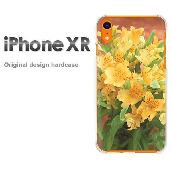 ゆうパケ送料無料 iPhoneXR iphonexr ケース カバー新型iphone 新型アイフォン XR IPHONEクリア 透明 ハードケース デザイン ハードカバーアクセサリー スマホケース スマートフォン用カバー[花(黄)/ixr-pc-new0921]