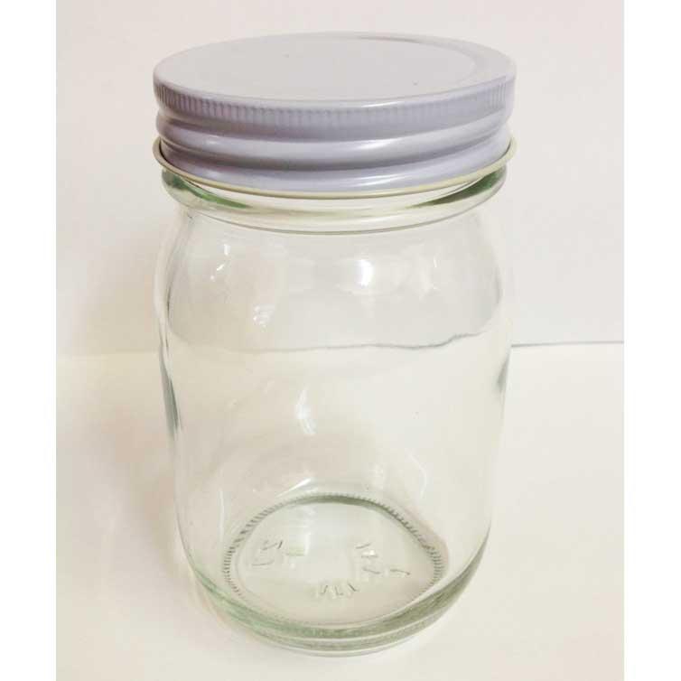 【送料無料】保存瓶フタ付き(びん・ジャム瓶・透明瓶・山菜・わらび・タケノコ・密封・煮沸・果実酒)450ml ケース販売20本入