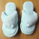 足つぼ五本指(5本指)スリッパ 洗えるパイル地 ユビゴロー ブルー/レディース 女性用 その1
