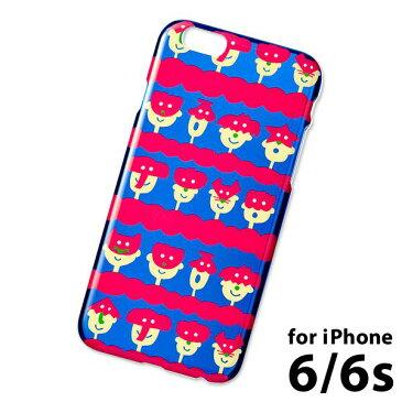 iPhone6 6s 対応 スマホケース カバー アイフォンケース AIUEO クリアケース (IPT-06) : animal mask BL×RD
