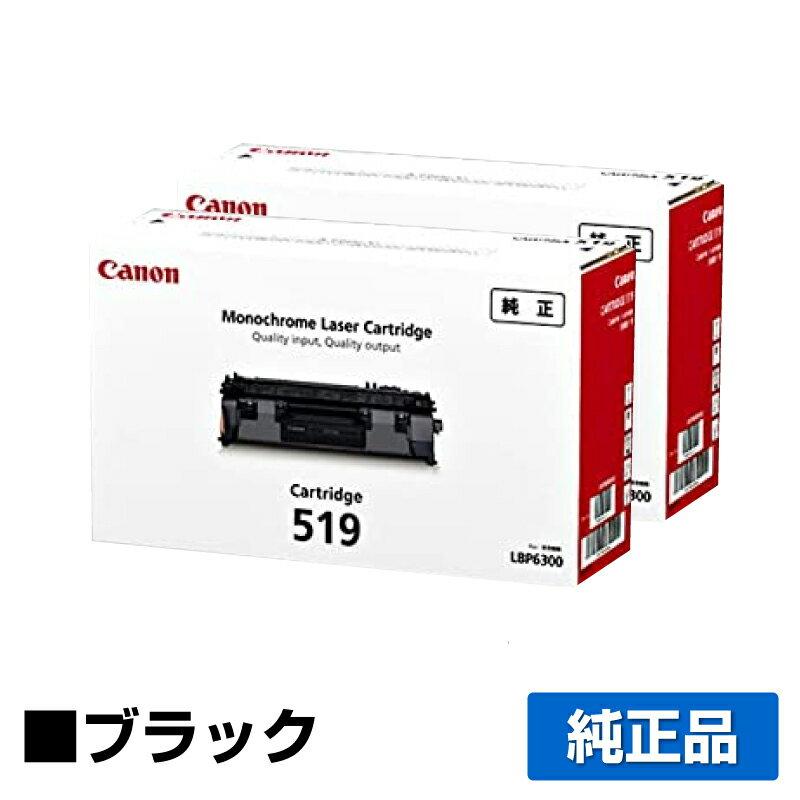 キヤノン CANON トナーカートリッジ519/CRG-519 ブラック/黒2本 純正 LBP6600、LBP6300、LBP251、LBP252、LBP6330、LBP6340 用トナー画像