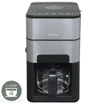 取寄品/日付指定不可 Ondo 全自動 石臼式コーヒーメーカー セラミックミル付き ブラック ON-01-BK