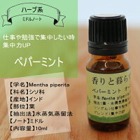 ペパーミント10mlアロマオイル/エッセンシャルオイル/精油