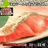 紅サケ【送料無料】紅鮭 切身 天然 北洋産 1尾20〜22切 べにじゃけ 鮭 紅 さけ しゃけ べにさけ 海鮮 赤身 在宅 母の日 父の日