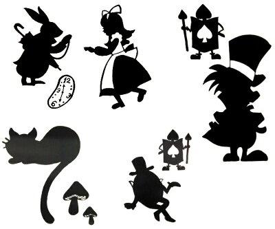 メール便対応商品ステッカー 不思議の国のアリスキャラクター New Special Big 【あす楽対応】