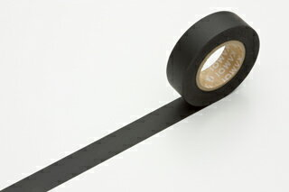 Duck wells processed paper mt masking tape black and white-matte black color