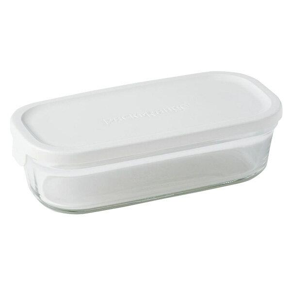 iwaki イワキ 保存容器 パック&レンジ BOX ハーフ ホワイト N3246-W パックアンドレンジ 耐熱ガラス 常備菜 つくおき 作り置き 【キッチン おしゃれ インスタ映え 人気 ギフト プレゼントとして】