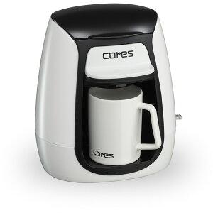 ● Cores コレス 1カップコーヒーメーカー ホワイト C311WH 【ドリップコーヒー ドリッパー 1人用 コーヒーポット キッチン おしゃれ インスタ映え 人気 ギフト プレゼントとして】