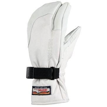 HESTRA ヘストラ グローブ 30872 3-FINGER FULL LEATHER Off White【スキー】【スノーボード】【レザー】【スクート】