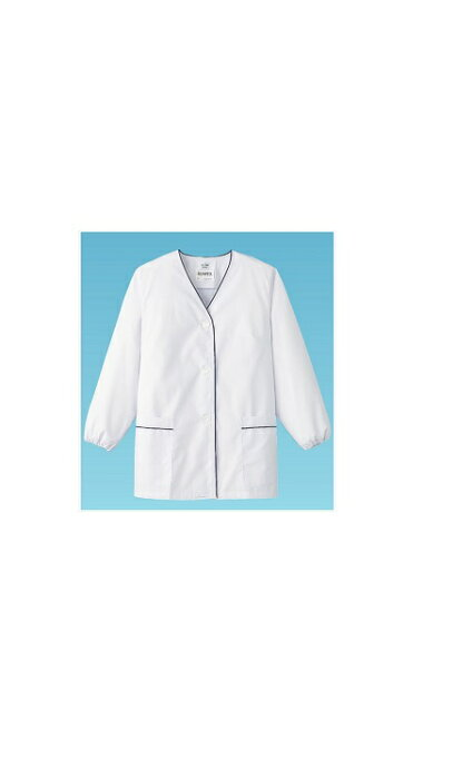 サンペックスイスト 白衣・長袖 FA−380 (ホワイト) 4L No.6-1340-0506 SHK416