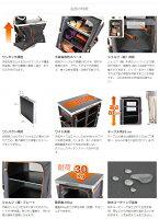 マルチキッチンテーブル(ブラック)天板サイズ60X48cm。TB1-38[TB138]ワンタッチ構造のマルチキッチンテーブルドッペルギャンガーアウトドアDOPPELGANGEROUTDOORDOD