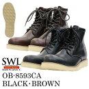 SLOWWEARLION定番モデル8593CAプレーンMIDブーツ
