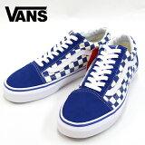 スーパーSALE【VANS】(バンズ) OLD SKOOL (PRIMARY CHECKER) BLUE/WHITE