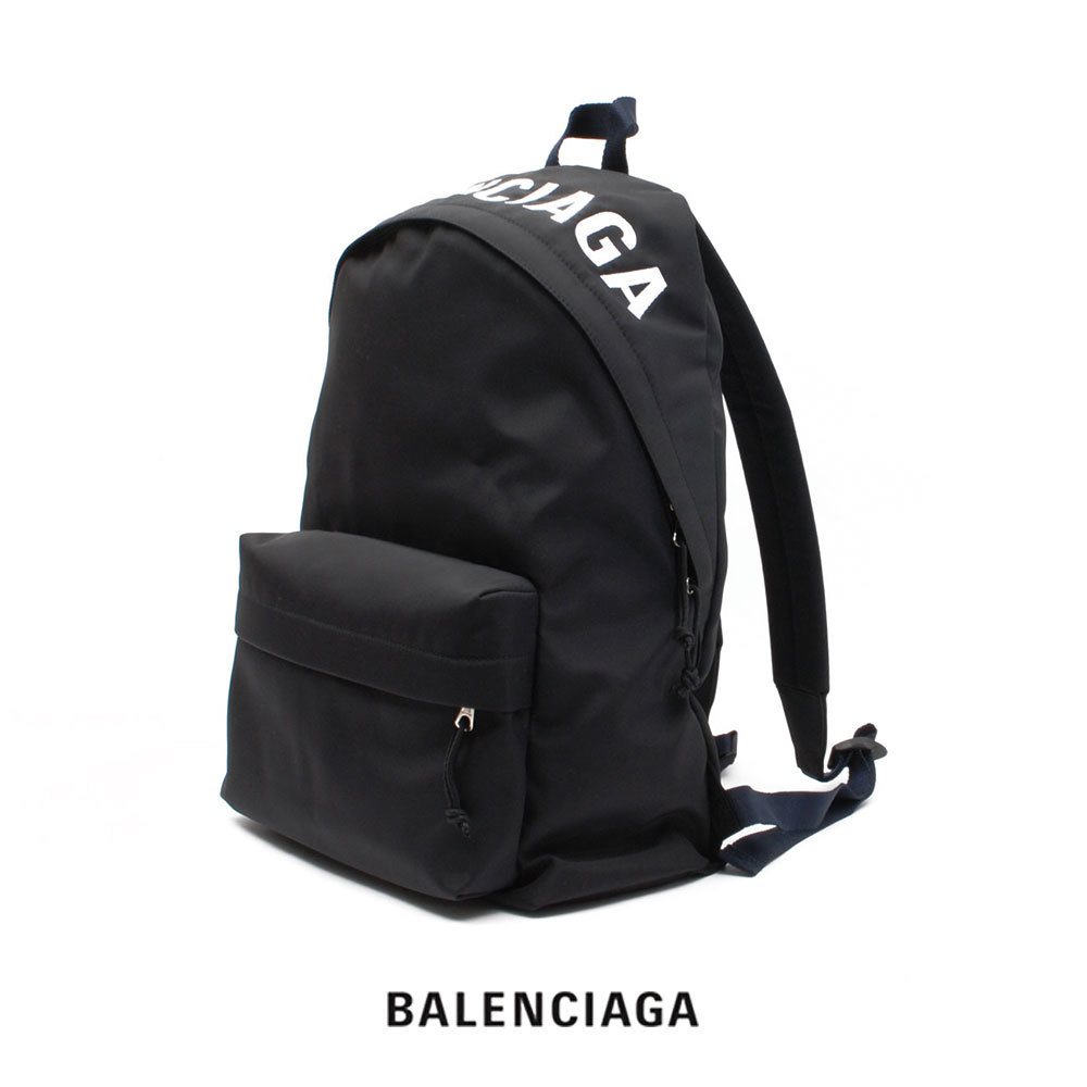 男女兼用バッグ, バックパック・リュック BALENCIAGA Black 507460 HPG1X 1090 logo embroidered sport nylon SALE