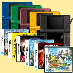 ◆送料無料 ◆台数限定ゲーム福袋2011【新品】DSiLL本体各色+ゲームソフト6本