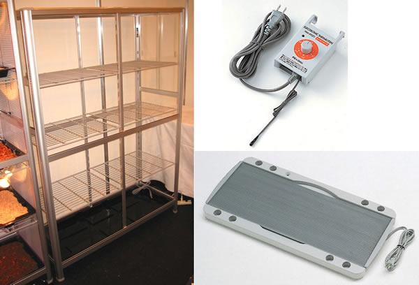 小型温室TOP-1511S ヒーターサーモ付小型温室3点セット 小型温室+ピカ保湿プレートヒーター+ピカヒーターサーモ:トップクリエイト