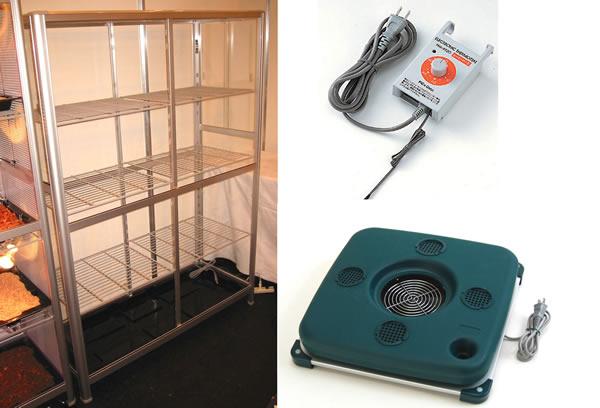 小型温室TOP-1511S 温度可変加温加湿器小型温室3点セット 送料激安  小型温室+ピカ温度可変加温加湿器+ピカヒーターサーモ:トップクリエイト