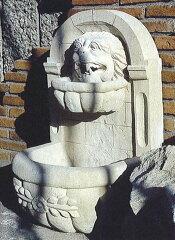 お庭をゴージャスに飾ってくれます♪壁泉 ライオン1型【28308】