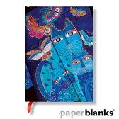 H&M Paperblanks ペーパーブランクス 水面に映る猫と蝶々 ノートブック (ミディ) 罫線【PB3978】【デザイン文具】【ノート】【手帳】【事務用品】