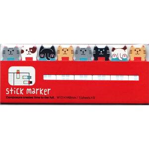 【メール便配送可能】MIND WAVE スティックマーカー ネコ【35843】 stick marker