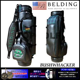 貝爾丁 BUSHWHACKER 黑色 x 綠色海軍 9.5-(HBCB-95021) 高爾夫球袋 | 高爾夫球袋球童回酷時尚高爾夫球袋高爾夫球袋布希工人高爾夫球球童袋黑色高爾夫產品名稱刺繡可用 (收費)
