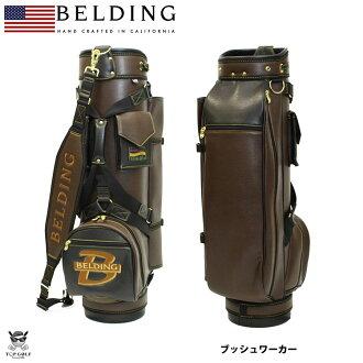 [BELDING]berudingu BUSHWHACKER黑色×棕色9.5型(HBCB-95023)高爾夫球場服務員包|被使高爾夫球袋高爾夫球場服務員背球童背漂亮的球棒袋漂亮的高爾夫球背高爾夫球商品高爾夫球用品高爾夫球場服務員球棒袋後退
