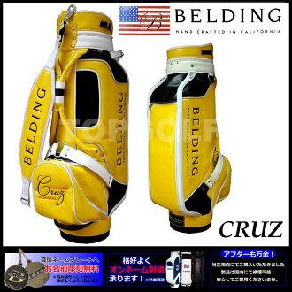 berudingu CRUZ黄色×海軍陸戰隊×白8.5型(HBCB-85028)高爾夫球場服務員包| 球童背高爾夫球場服務員背帥的男子的球棒袋球棒袋高爾夫球高爾夫球場服務員巴克漂亮的高爾夫球袋高爾夫球背情况
