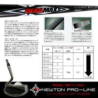 ニュートンプロラインパター高感度設計カーボンシャフトDERAMAX(デラマックス)MO-01シリーズカーボン装着カスタム仕様(NEWTONPRO-LINETP-2015)