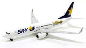 ボーイング 737-800w スカイマーク 特別塗装 「ONE PIECE」ワンピース JA73NF 1/400 2014年12月...