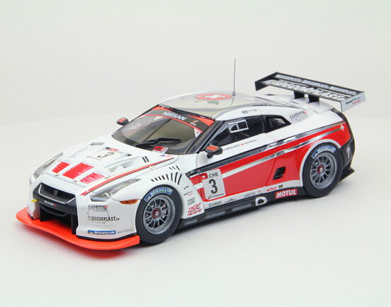 車, ミニカー・トイカー EBBRO RACING GT-R GT1 2010 Swiss Racing Team No.3 143