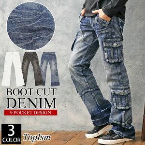 ジーンズ ローライズ ポケット ダメージ ボトムス カジュアル ファッション