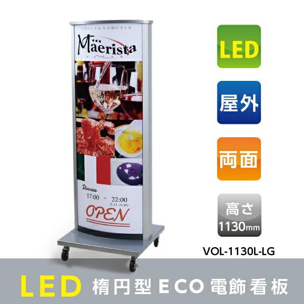 屋外防水、開閉式LEDライトパネル(導光板)電飾スタンド看板 W520mm*H1350mm