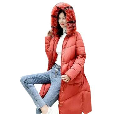 レディースファッション 秋冬 ロング丈 軽量 コートジャケット防寒 中綿ジャケット ジャケット 綿コート アウター ロングタイプ ジャンパー スタイル 綿ジャケット フード付き コート