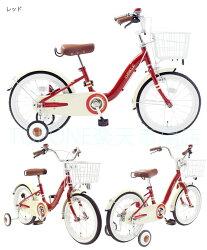 子供用自転車16インチ自転車キッズジュニアかわいい補助輪カゴチェーンカバー自転車TOPONE自転車CHIBICLE子供用自転車チビクルおしゃれ子供用自転車レトロ赤MKB16-34【RCP】