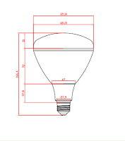 Cree防水LED水銀灯(看板照明等)20〜40W相当E26200ルーメンIP653000k電球色
