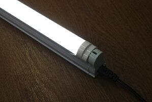直ぐに設置簡易型(簡単設置)120cmLED蛍光灯+スリム台座1灯用電源配線1.5mコンセント付(LED蛍光灯)