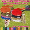 中型犬ロングリード5m 専用ポーチセット(ノーマル)トップワン 犬 広場で遊べます! しつけ教室 愛犬訓練用