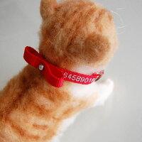 刺繍ネコ首輪Sサイズ猫首輪名前入電話番号ネーム首輪首輪タイプの迷子札刺繍の関係で首周り16cmから制作になります。