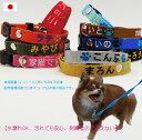 犬 迷子札 刺繍 首輪 軽量 Sサイズ 日本製 迷子札首輪 小型犬 猫 名前入 名入れ 電話番号 刺...