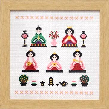 Olympusクロスステッチ刺繍キット 7436 「ひなまつり」 桃の節句 雛祭り ひな祭り
