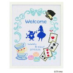 Disney Welcome Board【予約/5月下旬】クロスステッチ刺繍キット 7467 「不思議の国のアリス」 ...