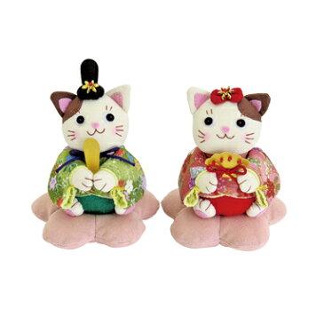 Olympusパッチワークキット PA-746「にゃんこのひなまつり」(ぬいぐるみ) オリムパス 桃の節句 雛祭 雛飾り 手作り キット 雛人形 ネコ