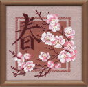 RIOLISクロスステッチ刺繍キット No.812 「Spring」 (春) ロシアの刺しゅうメーカー「リオリス...