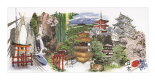 TheaGouverneurクロスステッチ刺繍キットNo.548「Japan」(日本)オランダテア・グーヴェルヌール