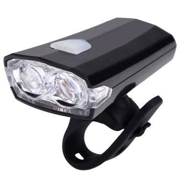 定形外【B095】自転車用ヘッドライト ホルダー付き 軽量 LED繰返し充電式 USB充電 LED長寿命 取付工具不要 耐水性で安心☆ 夜間走行中の事故防止に!
