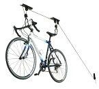 自転車用天井吊り下げリフト式ラック